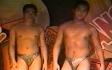 Like Mr. Bombastic, coverboy and valentino, a competition of pinoy macho dancers, usually straight younger men who don't go to the gym.