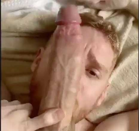 Vertically shot video of a giant, battering ram splitting open a very handsome redhead. Leander pushes himself to the limit by taking a cock that is clearly an inch longer than his entire skull.