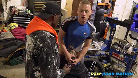It's a Friday and I promised Amil cress my total slut bottom part time mechanic mate of mine I would get his hole filled by a few guys so I call Ben Beahr and Josh Innit, the lads from the unit next...