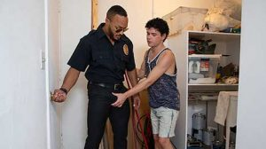 Dylan Hayes calls security guard Dillon Diaz into the maintenance room to ask for extra protection after some of the other guys keep calling him gay, but Dillon refuses to provide any sort of...