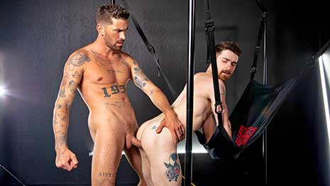 Nick Milani is ready and willing to get Damned. In this hot hookup with Chris Damned, Nick takes the sexy stud's dick like a a pro and works a nice load out for Chris.