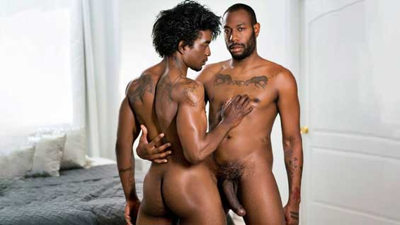 August Alexander is looking at guys on a dating app when he recognizes his roommate Jordan. Jordan enters August's room, they make out, Jordan then services August. August returns the favor by rimming Jordan before fucking his ass.