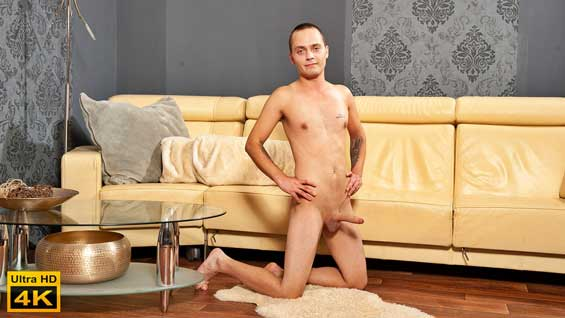 Libor Latina is aged 27. He lives in Rakovnik and he has a job. In his spare time he enjoys sports, basketball and soccer. He sits up straight as he does his interview, answering the questions with a bit of a smile on his face.